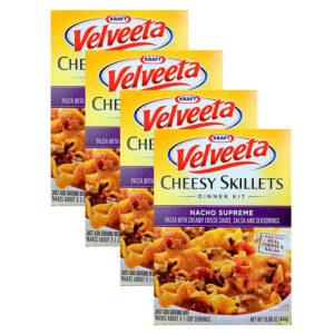 (4 Pack) Velveeta Classic American Skillets Nacho Supreme Dinner Kit, 15.66 oz Box