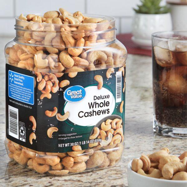 Great Value Deluxe Cashews, 30 oz