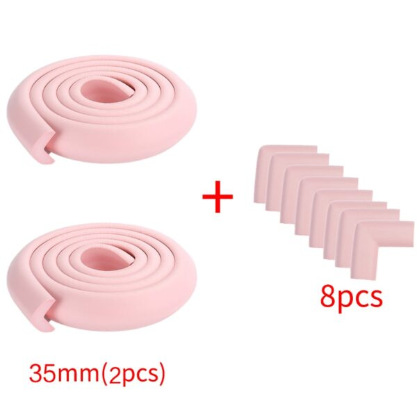 4M+8pcs Baby Safety Proofing Edge Corner Guards Desk Table Corner Protector Children Protection Furniture Bumper Corner Cushion