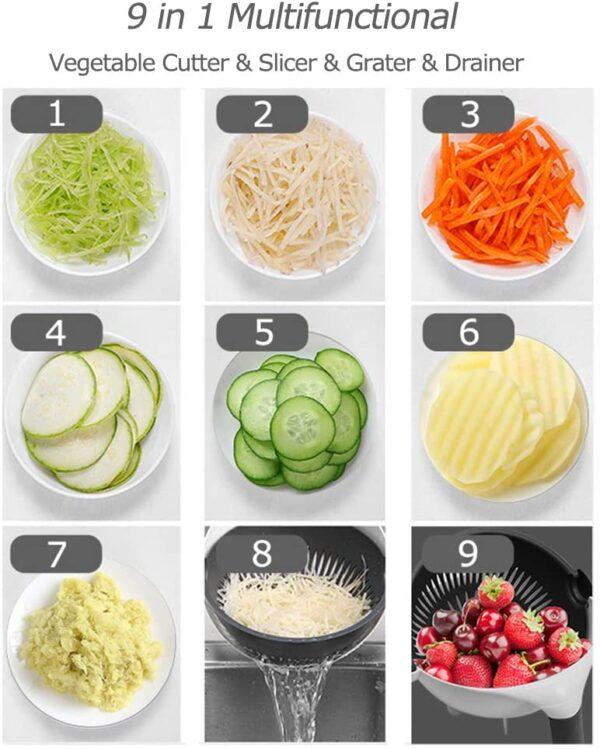 Mandoline Slicer Vegetable Slicer Potato Peeler Carrot Onion Grater with Strainer Kitchen Accessories Vegetable Cutter