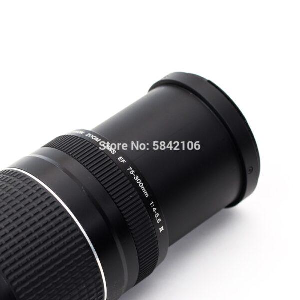 Canon camera lens EF 75-300mm F/4-5.6 III Telephoto Lenses for 1300D 650D 600D 700D 77D 800D 60D 70D 80D 200D 7D T6 T3i T5i