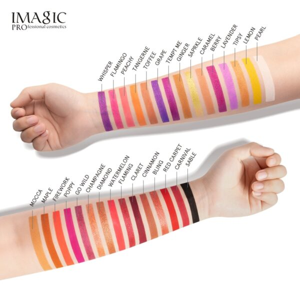 IMAGIC 30 Colors Eye Shadow Pearlescent Makeup Glitter Pigment Smoky Eye Shadow Palette Waterproof Summer swimming Cosmetic Eye