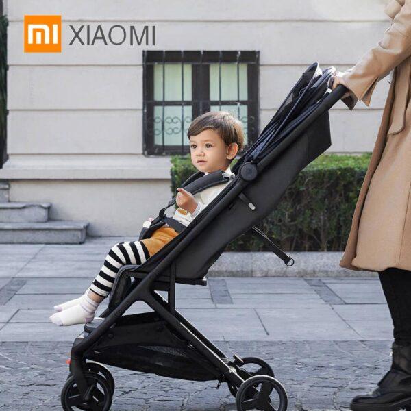 XIAOMI Mitu Baby Stroller Folding 4 Wheel shock absorption stroller Anti-UV Antibacterial cushion travelling Baby trolley