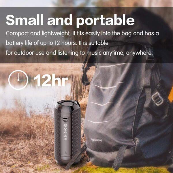 Portable Bluetooth Speaker 20w Wireless Bass Column Waterproof Outdoor Speaker Support AUX TF USB Subwoofer Stereo Loudspeaker