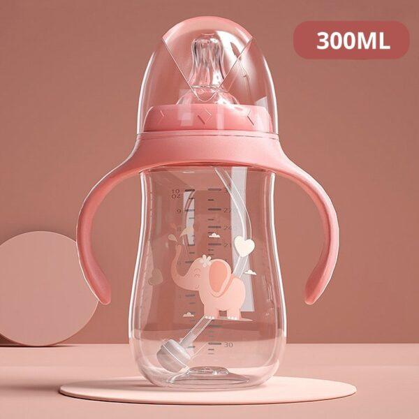 Baby bottles Drinking Cup Feeding Bottle Wide-Caliber Multifunctional Drinking Milk Drinking Water Dual-use Bottle BPA Free