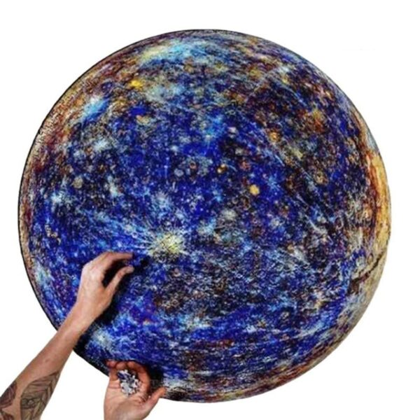 1000 Pieces Jigsaw Puzzles Educational Toy Scenery Space Stars Moon Earth Dropship Round Puzzle Game Toys for Adults Kids Gifts