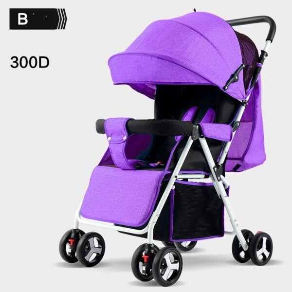 Wholesale lightweight baby stroller carriage travel convenient folding baby simple child mini pink four wheel trolley pram