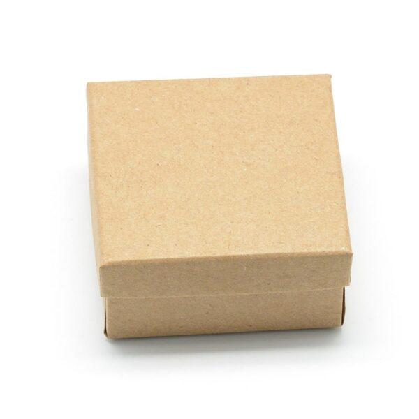 pandahall Cardboard Jewelry Set Box for Ring Necklace Rectangle Tan 8x5x3cm Black 9x7x3mm 12pcs /24pcs