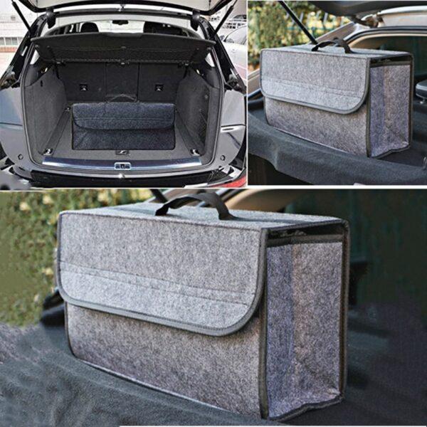 Fireproof Car Woolen Soft Felt Storage Box Trunk Bag Vehicle Tool Box Multi-Use Tools Organizer Bag Carpet Folding