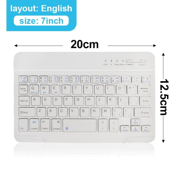 Mini Wireless Keyboard Bluetooth Keyboard For ipad Phone Tablet Rubber keycaps Rechargeable keyboard For Android ios Windows