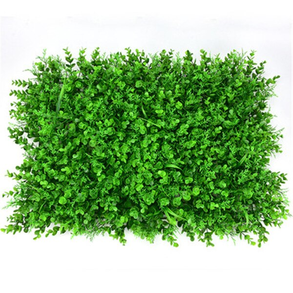 40*60cm Artificial Plants Hedge Lawn Boxwood Hedge Fake Lawn Garden Backyard Home Decor Simulation Grass Turf Rug Lawn Outdoor P