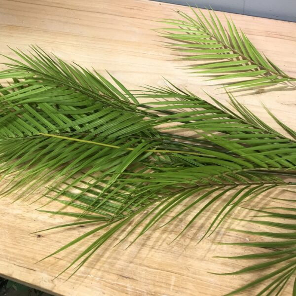 125cm13 Fork Artificial Large Rare Palm Tree Green Lifelike Tropical Plants Indoor Plastic Large Potted Home Hotel Office Decor