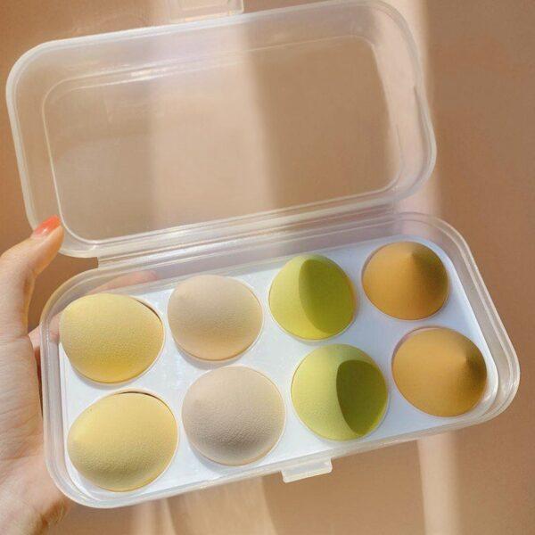8PCS Face Makeup Puff Sponge Set Beauty Foundation Powder Blush Blender Makeup Accessories Tools Cosmetic Blending Sponges
