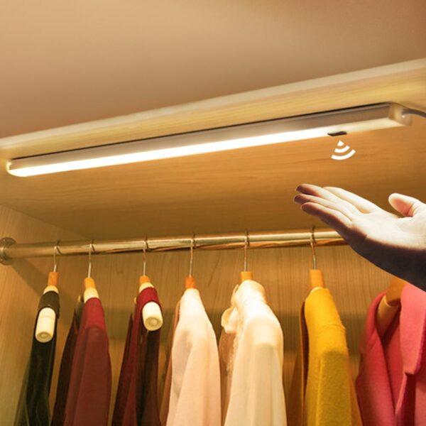 Hand Sweep Switch LED Under Cabinet Kitchen Light Bedroom Wardrobe Closet Night Lights 30/40/50cm LED Bar Light Cocina Home Lamp
