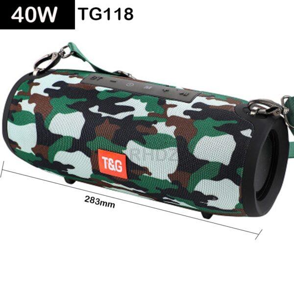 High power 40W Bluetooth speaker bass Portable column wireless Stereo subwoofer Music Playe Center With 3600mAh Battery soundbox