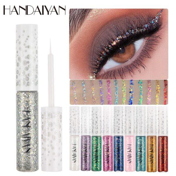 HANDAIYAN 12 Colors/pack Matte Color Eyeliner Kit Makeup Waterproof Colorful Eye Liner Pen Eyes Make up Cosmetics Eyeliners Set