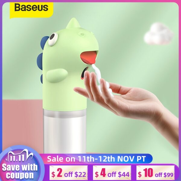 Baseus Automatic Hand Soap Dispenser Induction Foaming Soap Dispenser Liquid Soap Dispenser Hand Washer for Bathroom Kitchen