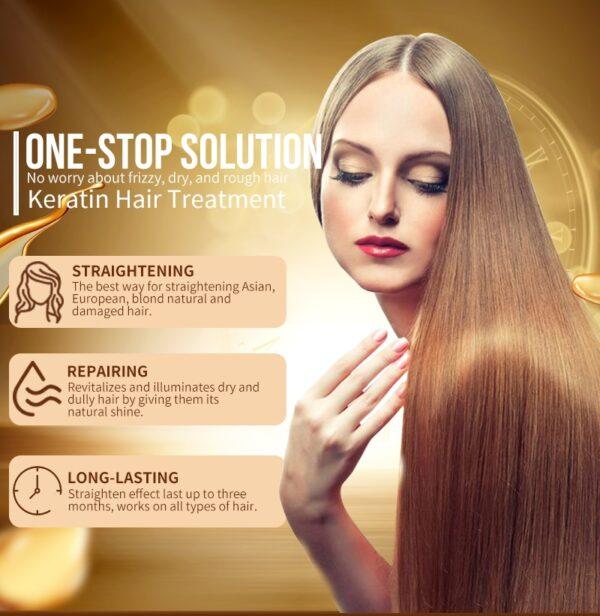 PURC 12% Formalin Keratin Hair Treatment and Purifying Shampoo Hair Care Products Set Brazilian Keratin Free Shipping