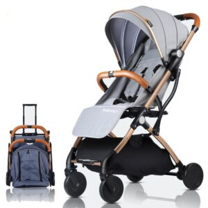 Hot Sale Portable Baby Stroller Ultra Light Foldable Travel Baby Carriage Infant Trolley For 0~36M Baby Can Sit Can Lie Down
