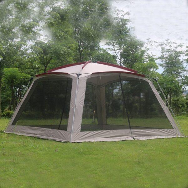 Alltel 5-8 Person Ulterlarge 365*365*210CM High Quality Large Gazebo Sun Shelter Camping Tent Carpas De Camping Beach Tent