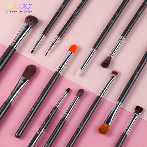 Docolor Makeup Brushes 12pcs Eye Makeup Brushes Set Eye Shadow Blending Eyeliner Eyelash Eyebrow Brushes For Beauty Tools Kit