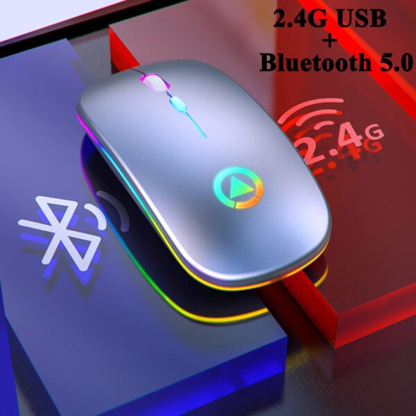 REDSTORM A2 Wireless Mouse Silent LED Backlit Mouse USB Optical Ergonomic Gaming Mouse PC Computer Mouse For Laptop PC