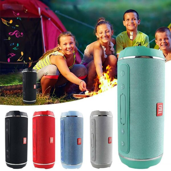 High power 40w Wireless Bluetooth Speaker Waterproof Stereo Bass USB/TF/AUX MP3 Portable outdoor column Music Player Subwoofer