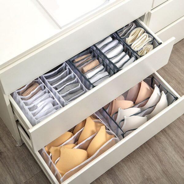 Underwear Bra Socks Panty Storage Boxes Home Dormitory Office Cabinet Organizers Wardrobe Closet Drawer Organization Box Divider