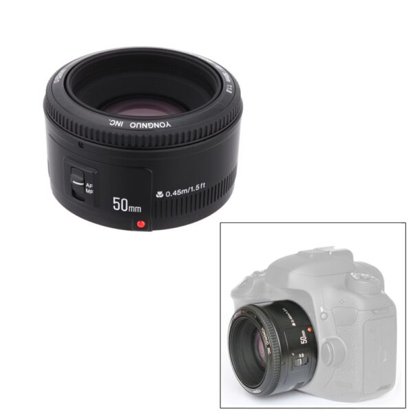 RU STOCK YONGNUO YN EF f/1.8 AF 50mm Lens 1:1.8 Standard Prime Lens Aperture Auto Focus Camera Lenses for Canon EOS DSLR Cameras