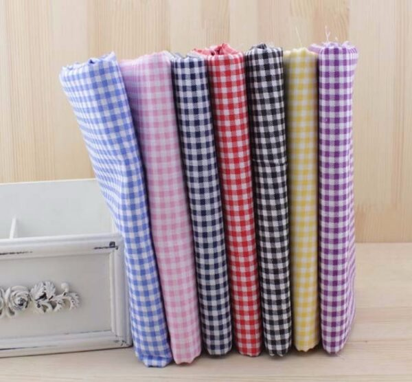 7pcs 50cm X48cm Free Shipping Plain Thin Patchwork Cotton Fabric Floral Series Blue Charm Quarters Bundle Sewing