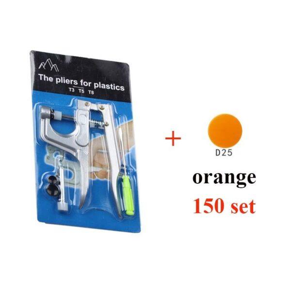 U Shape Fastener Snap Pliers KAM Button + 150 set T5 Plastic Resin Snap Button Press Stud Cloth Button Press Machine Sewing Tool