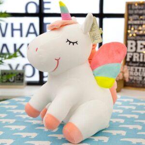 25CM New Soft Cute Rainbow Style Unicorn Toy Plush Toys Animals Horse Children Toys Baby Dolls Birthday Gifts