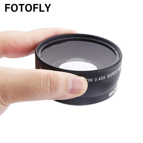 0.45X 46 49 52 55 58 mm Wide-Angle Lens With Macro Optical Glass Lenses For Canon Nikon Pentax Lens Accessory High Definition