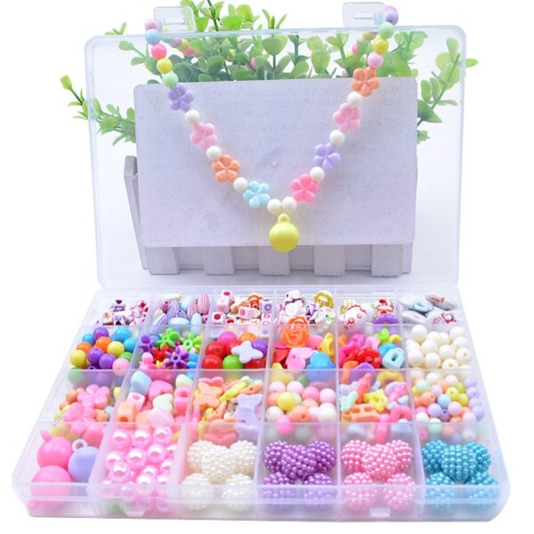 DIY Handmade Beaded Toy with Accessory Set Children Creative 24 Grid Girl Jewelry Making Toys Educational Toys Children Gift