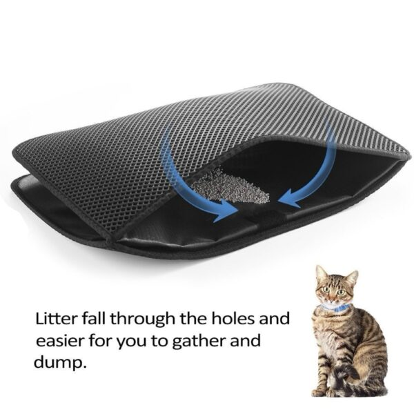 Waterproof Pet Cat Litter Mat Double Layer Litter Cat Bed Pads Trapping Pets Litter Box Mat Pet Product Bed For Cats House Clean