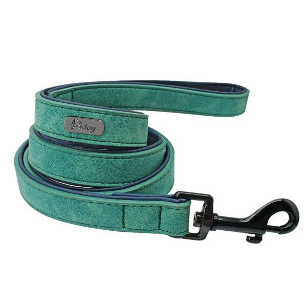 Custom Dog Collars Leather Personalized Pet Dog Tag Collar Leash Lead For Small Medium Large Dogs Pitbull Bulldog Pugs Beagle