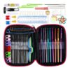100pcs Crochet Hooks Full Set Knitting Tool Accessories Knitting Needles Sewing Tools Craft Kit with Leather Case