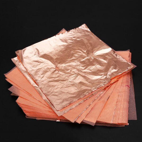 300 sheets Gold+Silver+Copper Foil 14*14cm Leaf Gilding Art Craft Imitation for Decorating Ceiling Wall Notebook