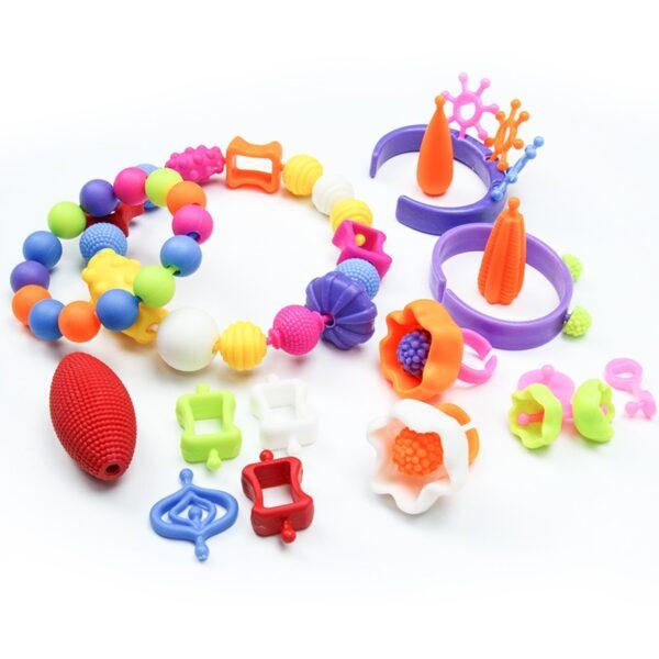 Diy Pop Beads Girls Toys Creativity Needlework Kids Crafts Children's Bracelets Handmade Jewelry Fashion Kit Toy For Girl Gift