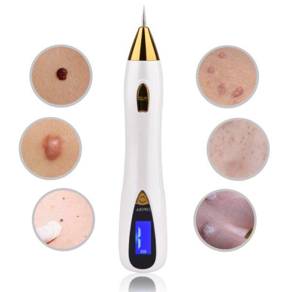 Skin Care Laser Mole Tattoo Freckle Removal Pen LCD Sweep Spot Mole Removing Wart Corns Dark Spot Remover Salon Beauty Machine
