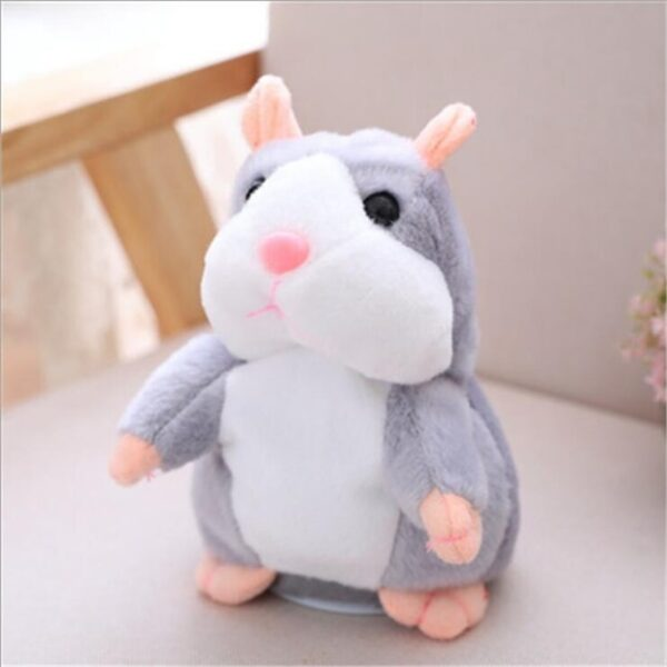 Dropshipping Talking Hamster Falante Mouse Pet Plush Toy Cute Talking Sound Record Educational Stuffed Doll Children Gifts 15cm