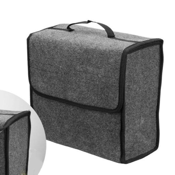 Buendeer soft Woolen Felt car trunk organizer 30*16*29cm Car storage box bag fireproof Stowing Tidying package blanket tool