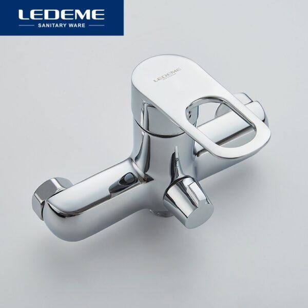 LEDEME 1 SET Bathroom Bathtub Faucets Fixture Sets Faucets Set Bath Shower Tap Bathroom Shower Set Waterfall Shower Head L2249