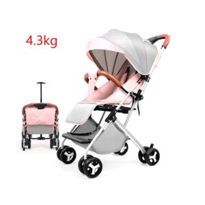 Lightweight Baby Stroller Folding Baby Stroller Travel Baby Carriage Umbrella Carts Can Sit and Lie Fourwheel Trolley 4.3kg