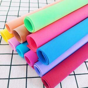 10 Sheets 50x50 Sponge Paper 1 mm Handmade Craft Paper EVA DIY Crafts Materials Cut Foam Paper Nursery Decoration New Year Gift