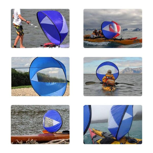 """42""""/108cm Sail Foldable Kayak Boat Wind Sail Sup Paddle Board Sailing Canoe Stroke Paddle Rowing Boats Wind Clear Window"""