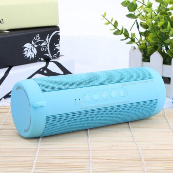 T2 Bluetooth Music Bass Speaker Waterproof Portable Outdoor LED Wireless Column Loudspeaker Support TF Card FM Radio Aux Input