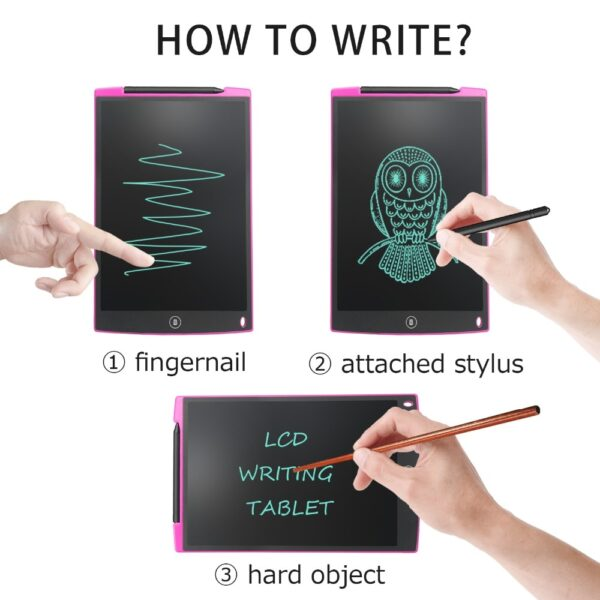 NeWYeS LCD Writing Tablet 12 Inch Electronic Digital Electronic Graphics Drawing Board Doodle Pad with Stylus pen Gift for kids