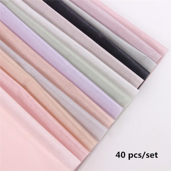 40pcs/set High-quality 50*70cm Tissue Paper Flower Clothing Shirt Shoes Gift Packaging Craft Paper Roll Wine Wrapping Papers