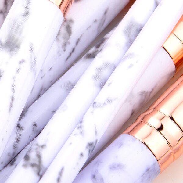 marble Makeup Brushes Set Foundation Powder Blush Eyeshadow Concealer Lip Eye Make Up Brush Cosmetics Beauty Tools